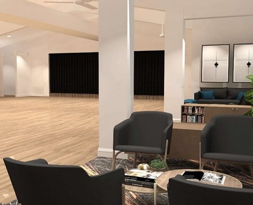 Create It Constructions - Geebung Bowls clubhouse receives $550,000 makeover - October 2019 - Dance Floor Fitout. Lounge Fitout.